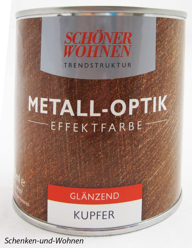 Metall-Optik - Effektfarbe Kupfer - glänzend 0,375 l