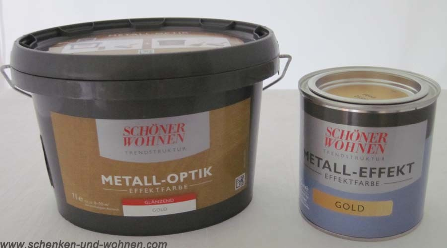 Metall-Optik Effektfarbe glänzend 375 ml Trendstruktur