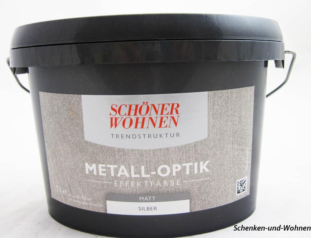 Trendstruktur - Metall-Optik Effektfarbe Silber matt  1 l