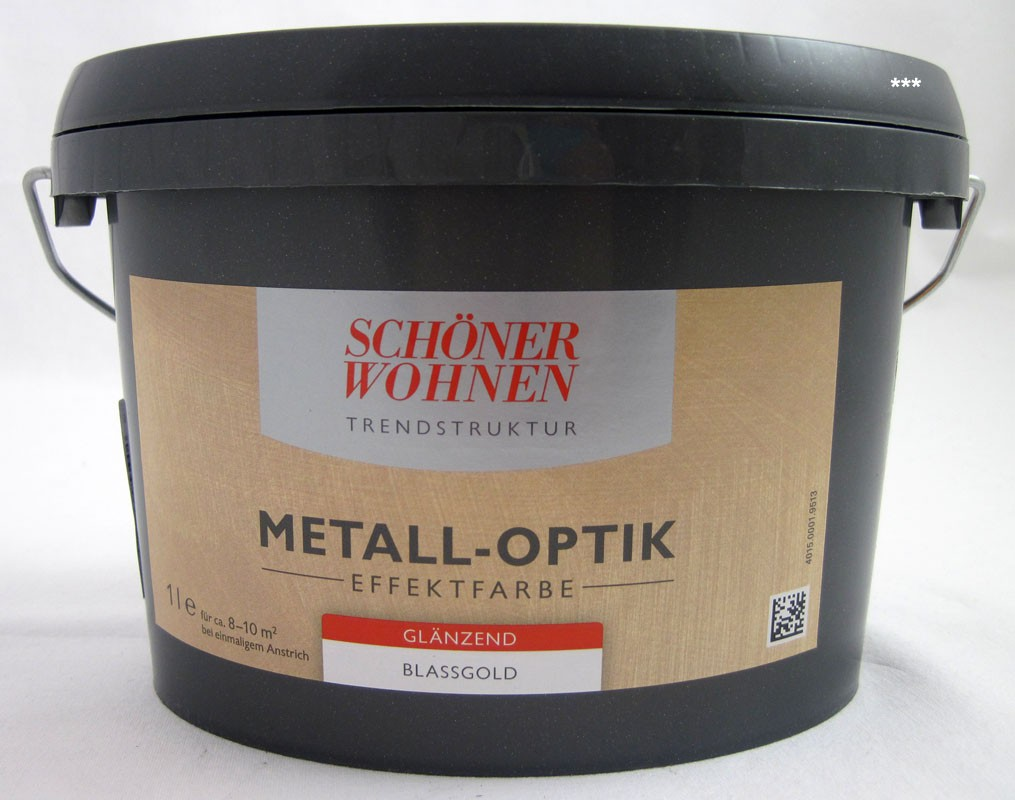 Trendstruktur Metall-Optik glänzend blassgold 1L