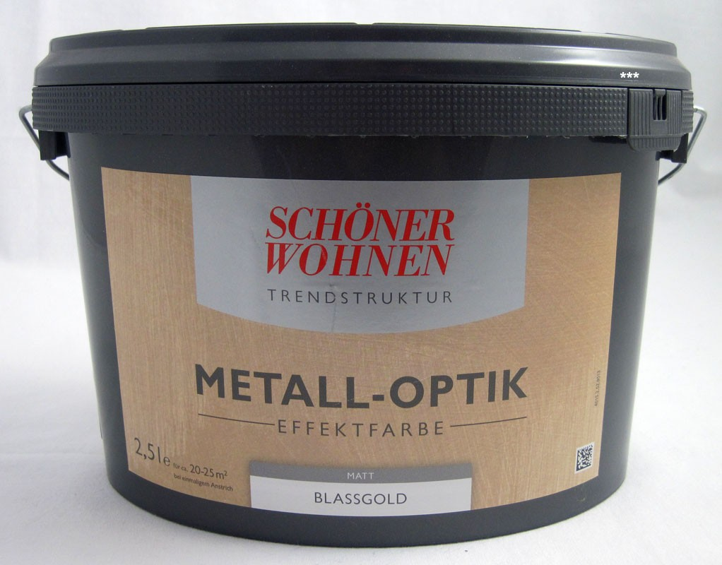 Trendstruktur- Metall-Optik - Effektfarbe Blassgold matt 2,5l