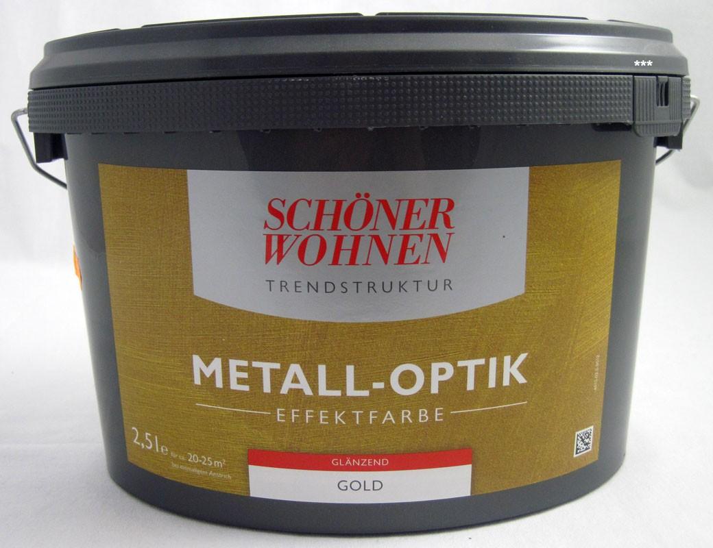 Trendstruktur- Metall-Optik - Effektfarbe Gold glänzend 2,5l