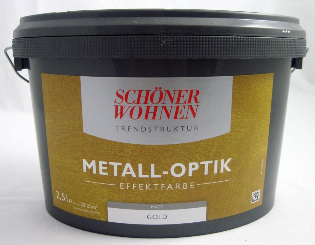 Trendstruktur- Metall-Optik - Effektfarbe Gold matt 2,5l