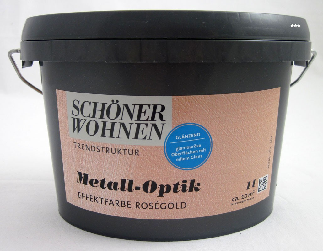 Trendstruktur Metall-Optik glänzend roségold 1L