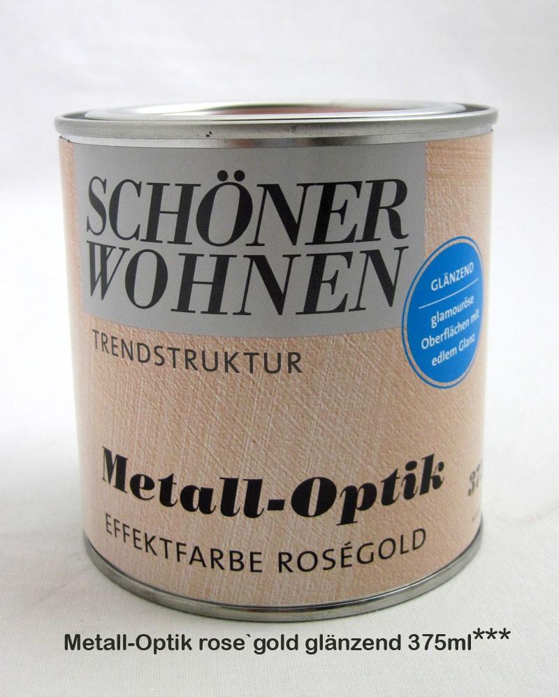 Metall-Optik-Effektfarbe rose`gold glänzend, 375 ml