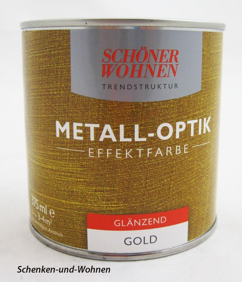 Metall-Optik-Effektfarbe Gold glänzend, 375 ml