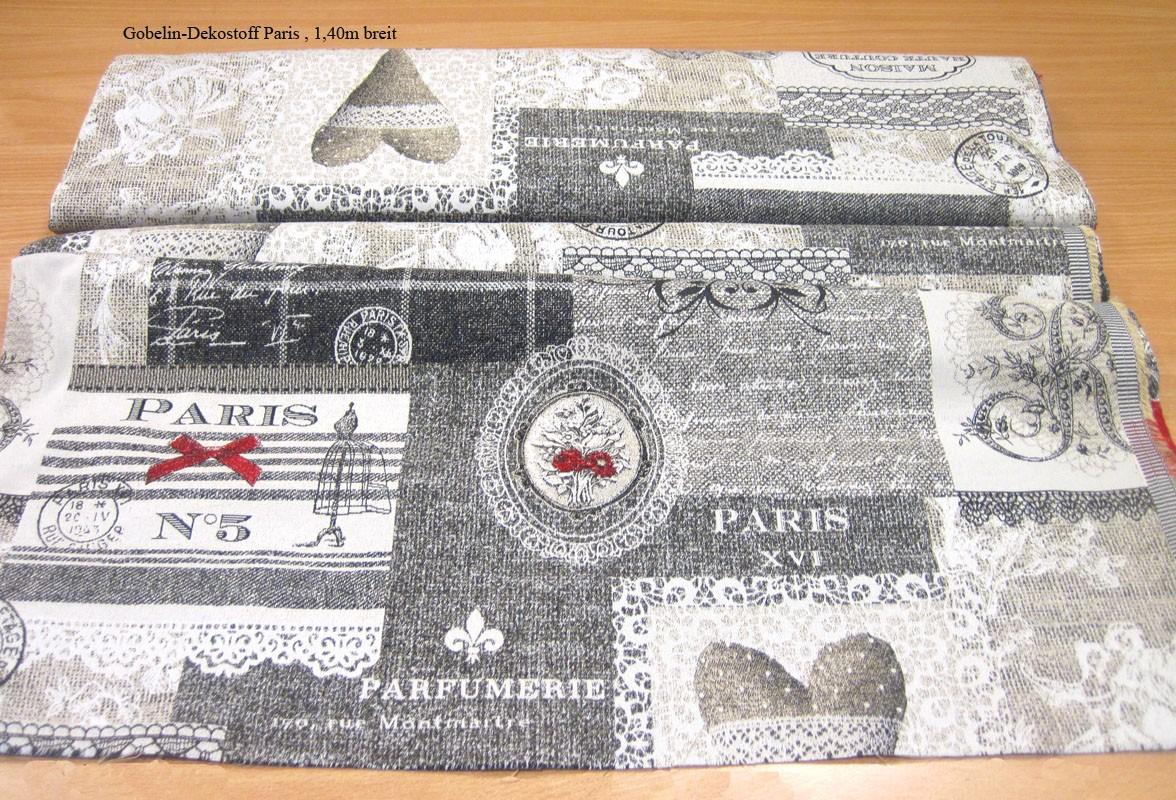 Gobelin Dekostoff Meterware Paris 140 breit