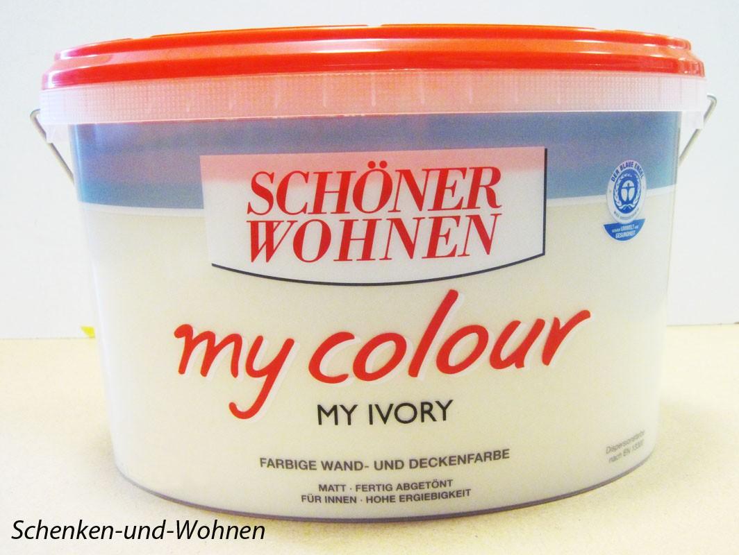 Schöner Wohnen - my colour Wandfarbe matt - 1544 My Ivory , 10 L