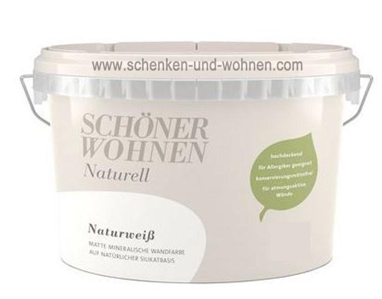 Schöner Wohnen Mineral-Wandfarbe Naturweiß 2,5 l