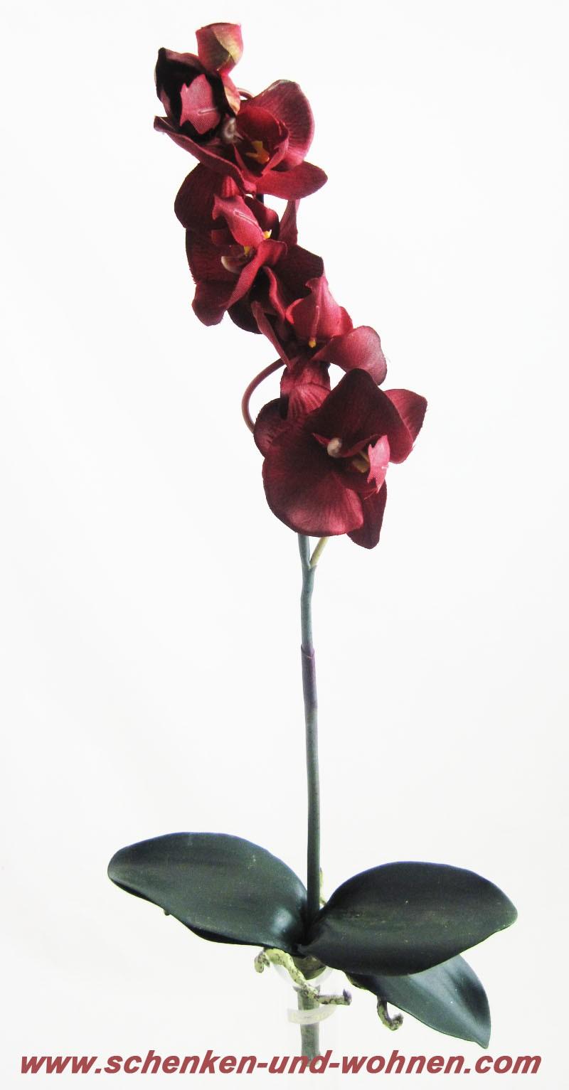 Kunst - Orchidee Phalaenopsis, Bordeaux ca. 42 cm