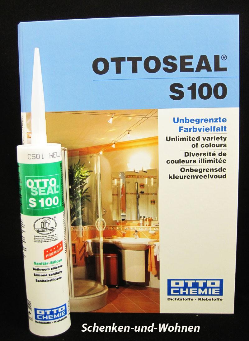 Sanitär-Silikon OTTOSEAL S100 Mandelbraun, Kartusche 300 ml