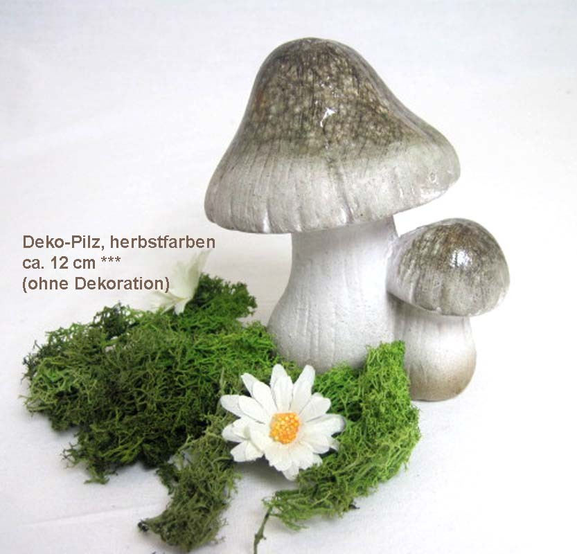 Deko-Pilz, herbstfarben ca. 12cm hoch