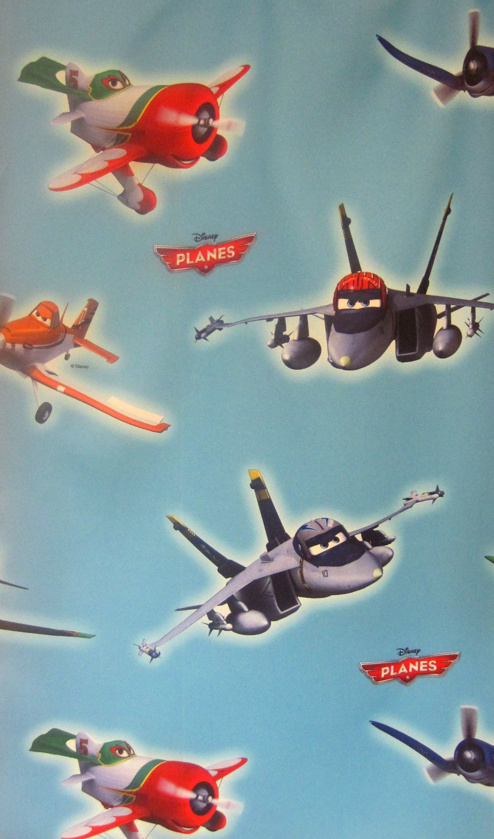 Disney Planes-Kinderzimmerstoff  Black - Out 150 cm breit