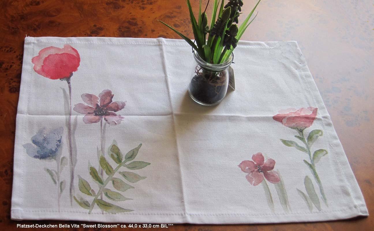 """Platzset-Deckchen Bella Vita """"Sweet Blossom"""" ca. 44,0 x 33,0 cm B/L"""