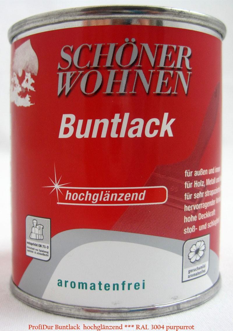 ProfiDur Buntlack RAL 3004 purpurrot hochglänzend 125 ml Kunstharzlack