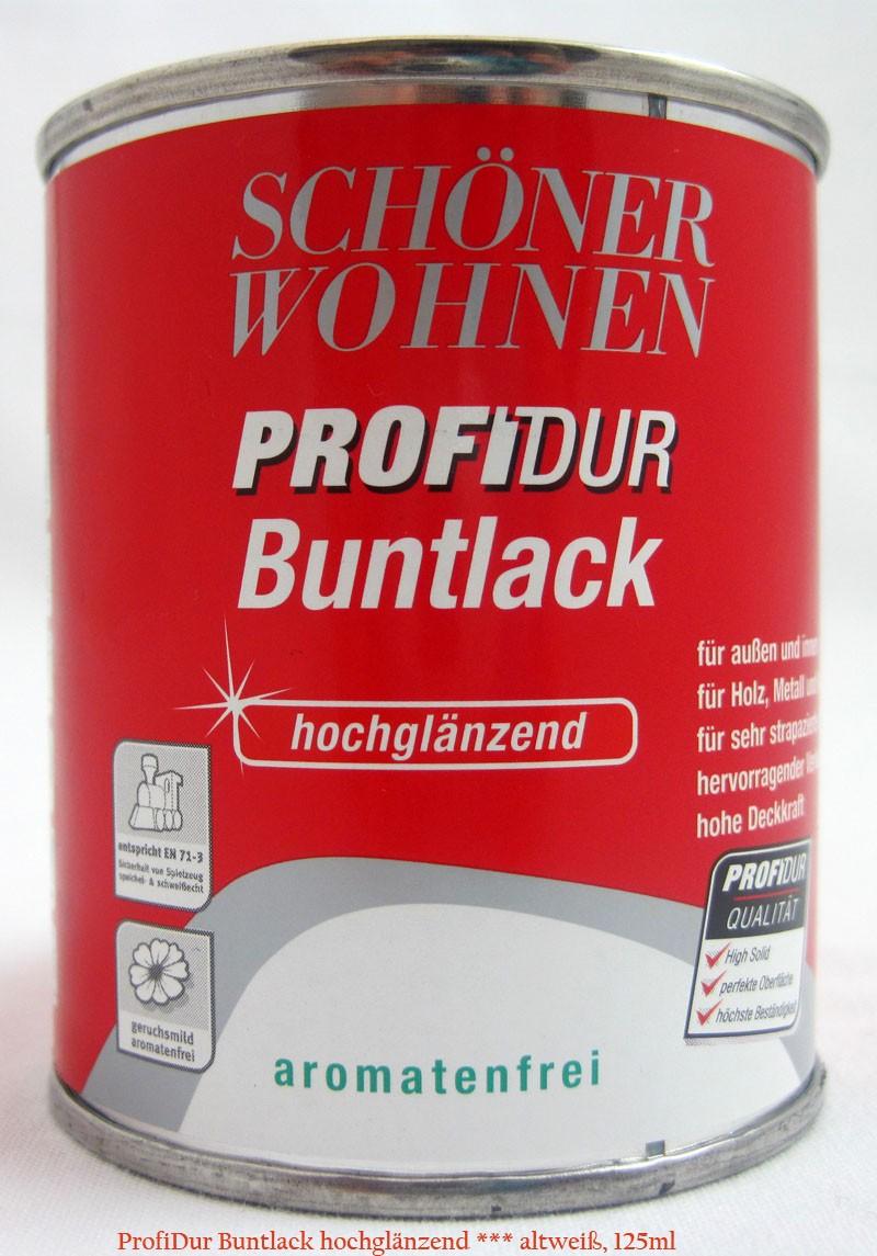 ProfiDur Buntlack Fb.Nr.: 0096 altweiß hochglänzend 125 ml Kunstharzlack