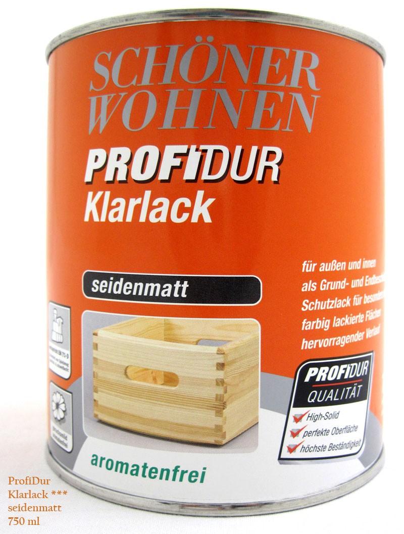 ProfiDur Klarlack - Alkydharzlack, seidenmatt, farblos, 750 ml