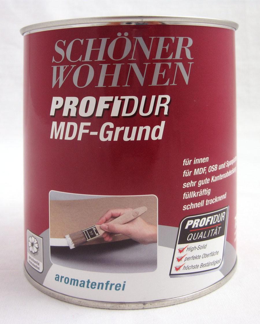 ProfiDur MDF-Grund für innen auf MDF, OSB und Spanplatten, weiß 375 ml