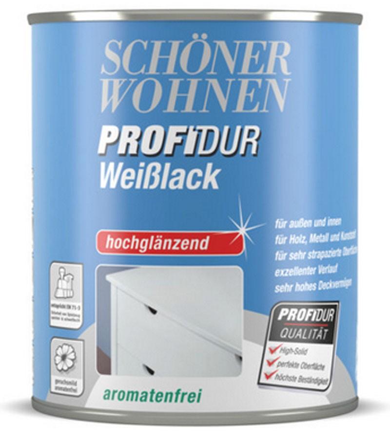 ProfiDur Weißlack - Alkydharzlack, hochglänzend weiß 750 ml