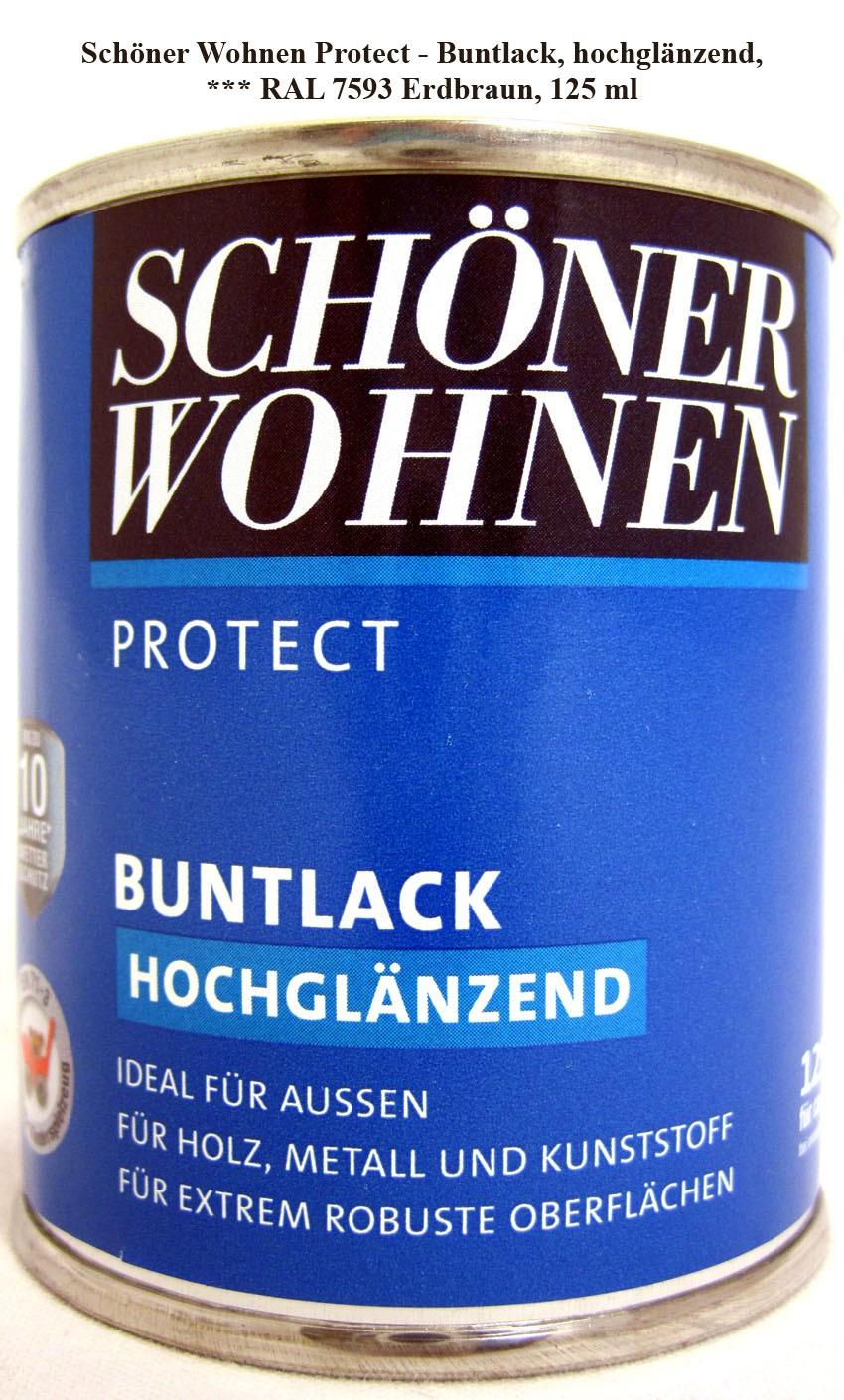 Protect Buntlack 125 ml, 7593 Erdbraun hochglänzend, Alkydharzlack SW