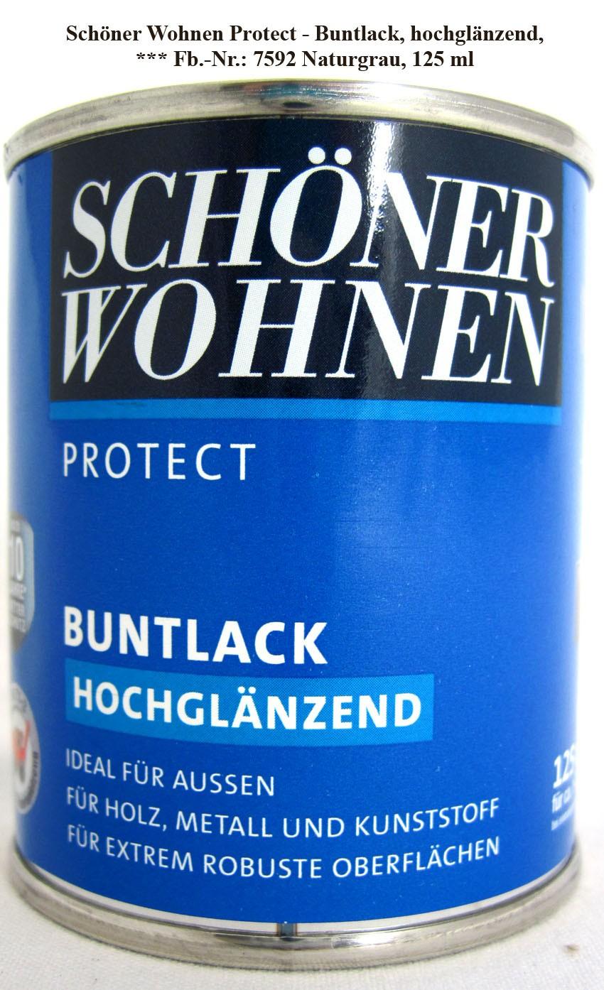 Protect Buntlack 125 ml, 7592 Naturgrau hochglänzend, Alkydharzlack SW