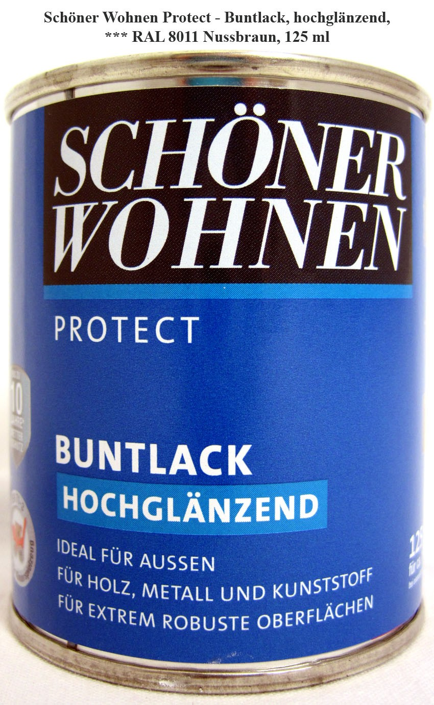 Protect Buntlack 125 ml, RAL 8011 Nussbraun hochglänzend, Alkydharzlack SW