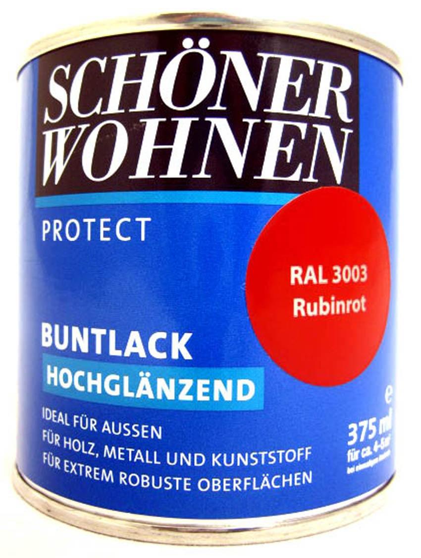 Protect Buntlack 375 ml, RAL 3003 Rubinrot hochglänzend, Alkydharzlack SW