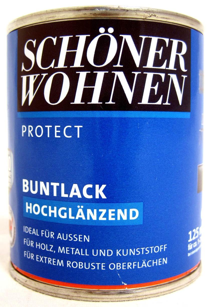 Protect Buntlack 125 ml, RAL 5014 Taubenblau hochglänzend, Alkydharzlack SW