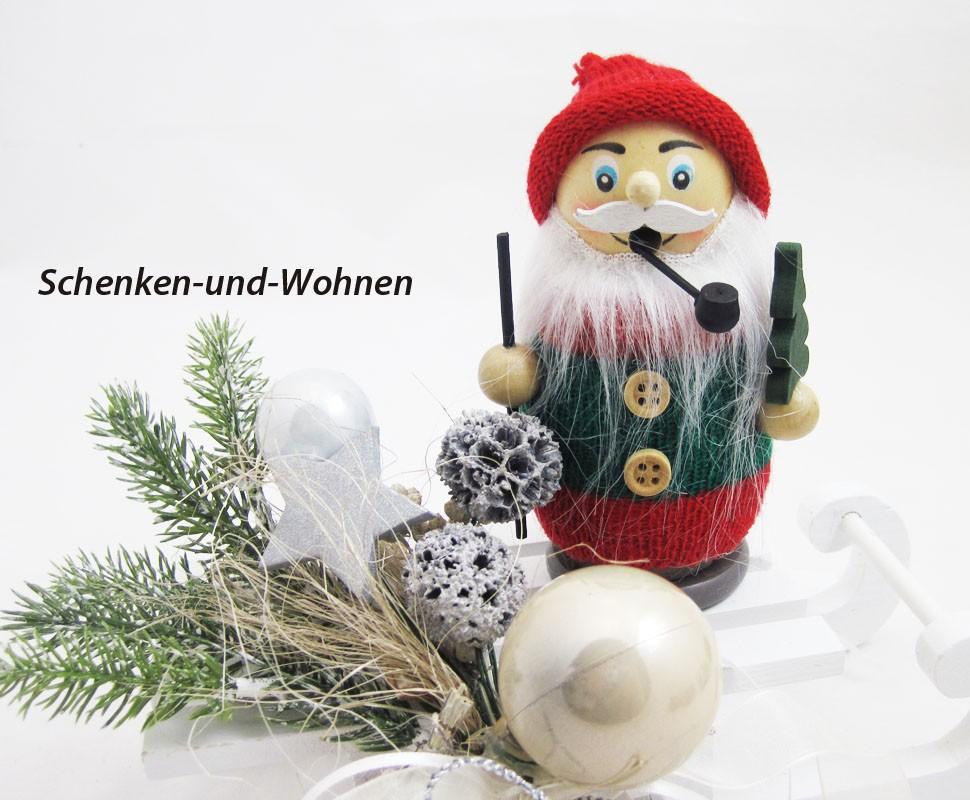 """Räucherfigur """" Strickpüppchen """" Wichtel mit Bäumchen ca. 13 cm"""
