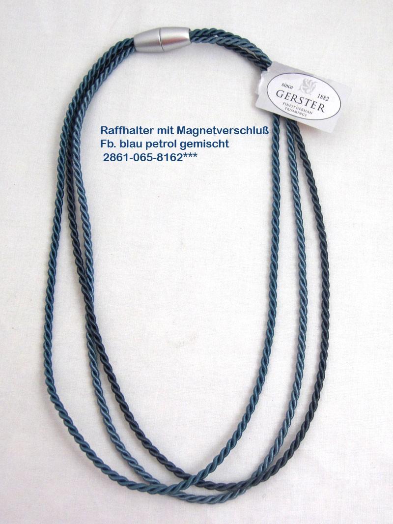 Raffhalter mit Magnetverschluss 64/32 cm blau petrol gemischt Fb. 8162