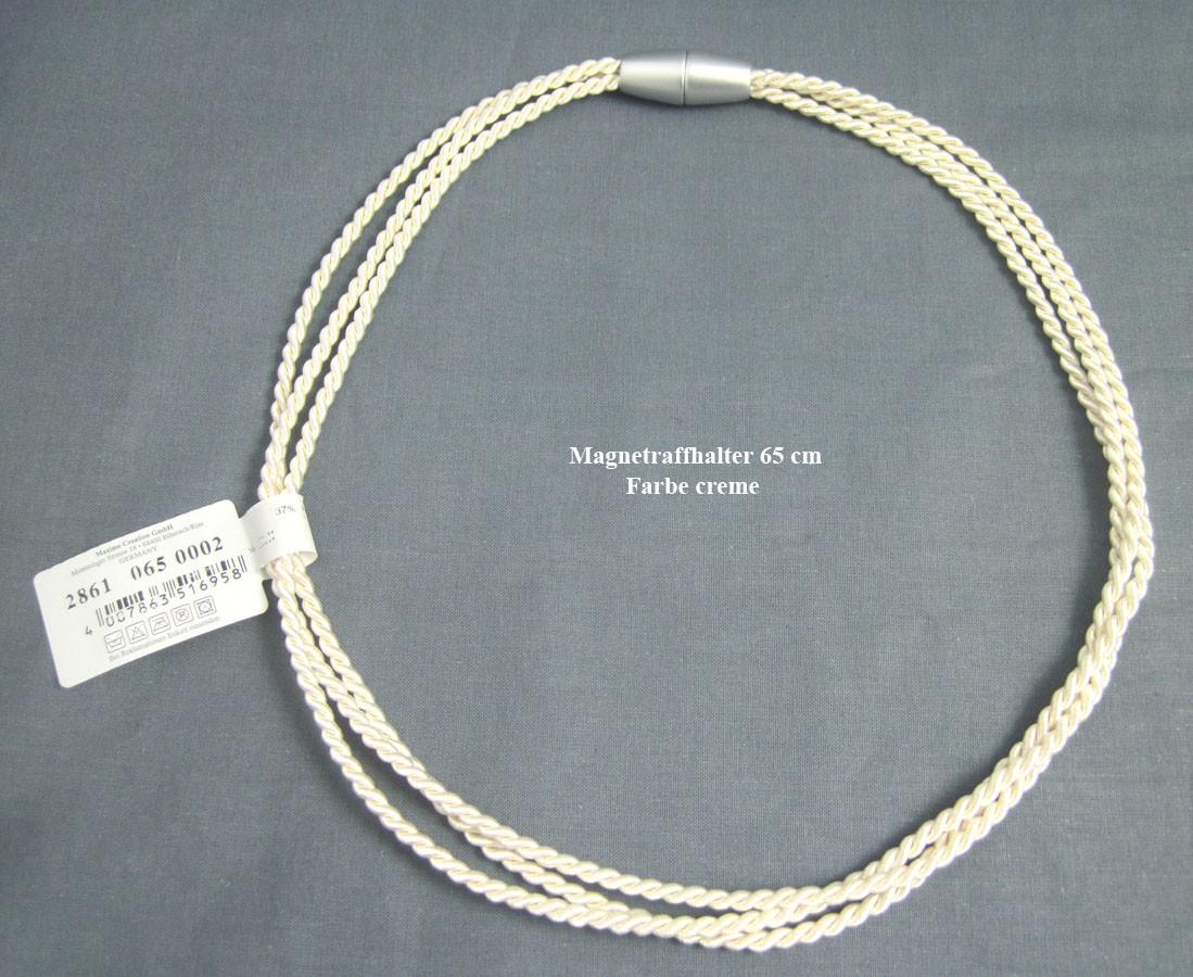 Raffhalter mit Magnetverschluss 65 cm creme