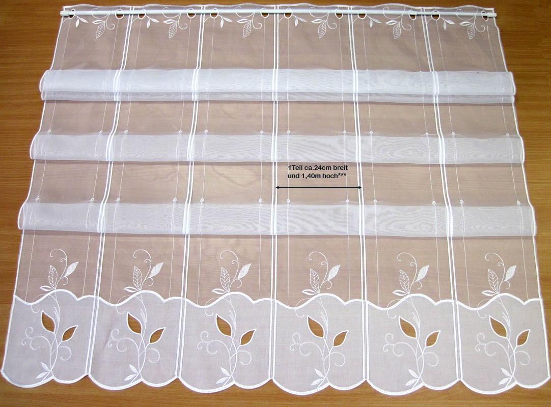 16 cm breites Raffpanneaux  weiß ca.140 cm hoch (incl. 2 Haken )