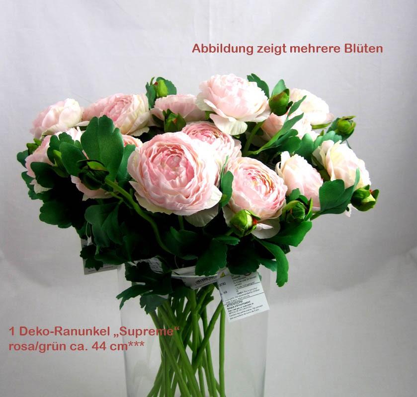 "Deko - Ranunkel ""Supreme"" rosa/grün ca. 44 cm"