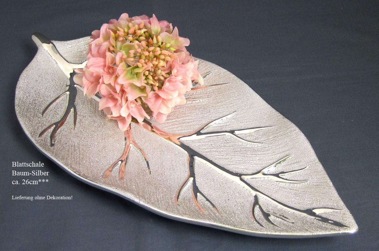 Keramik Deko-Schale Baum silber ca. 40 cm