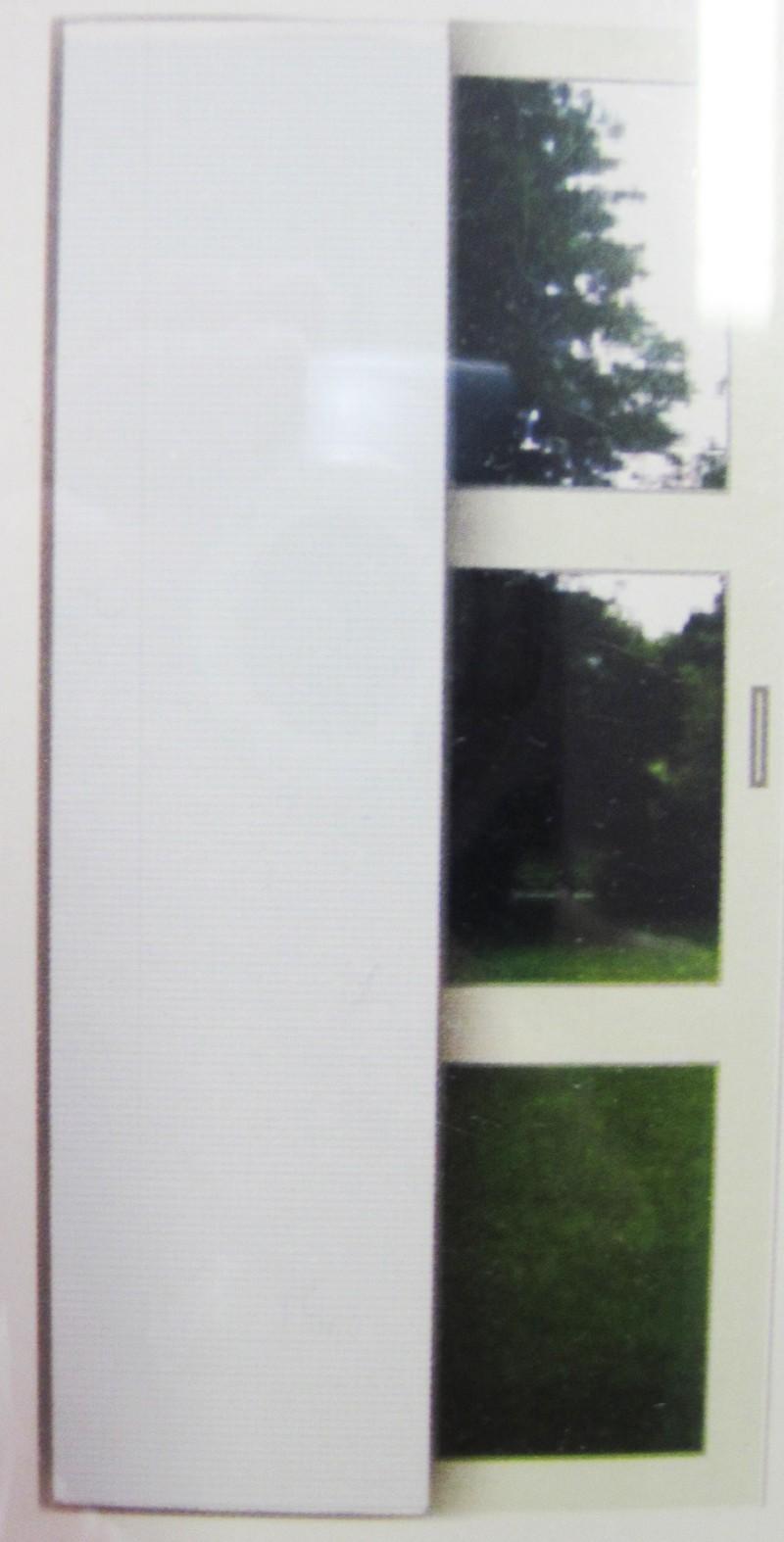 Flächenvorhang - Schiebevorhang Uni Weiß ca.60 x 245 cm, halbtransparent