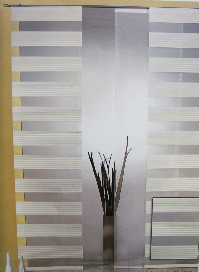 Flächenvorhang - Schiebevorhang Natur ca.60 x 245 cm, halbtransparent (1Stück)