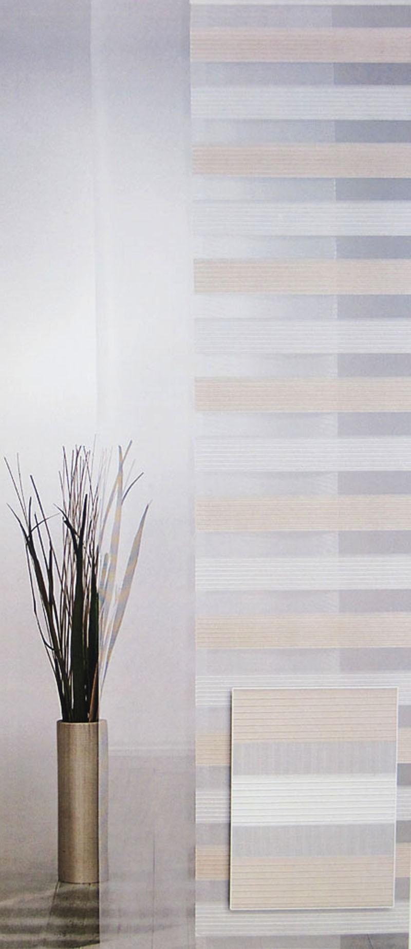 Flächenvorhang - Schiebevorhang Creme-Natur ca.60 x 245 cm, (1Stück)