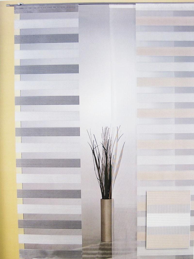 Flächenvorhang Natur-Grau ca.60 x 245 cm, halbtransparent (1Stück)