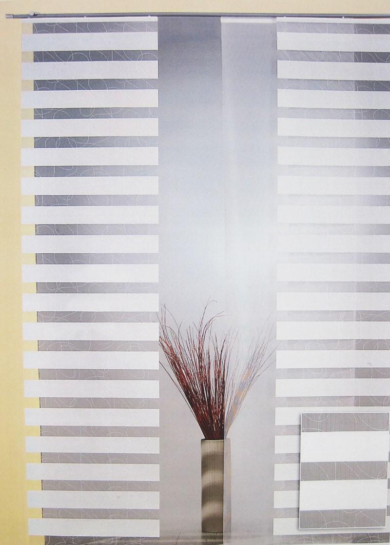 FlächenvorhangNatur gemustert ca.60 x 245 cm, halbtransparent (1 Stück)