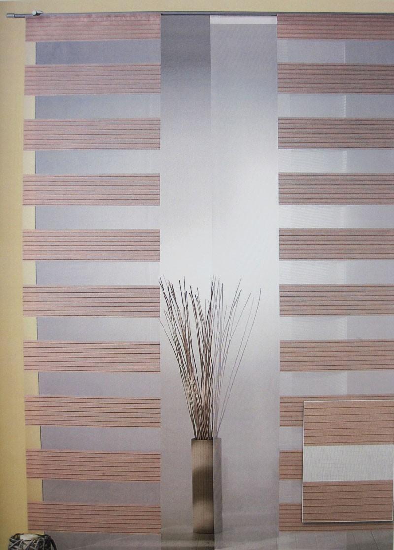 Flächenvorhang - Schiebevorhang Braun ca.60 x 245 cm, halbtransparent (1Stück)