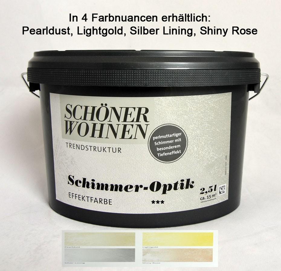 Schimmer Optik Effektfarbe Lightgold 2 5 L Incl Kreativzusatz Schoner Wohnen Schenken Und Wohnen Com