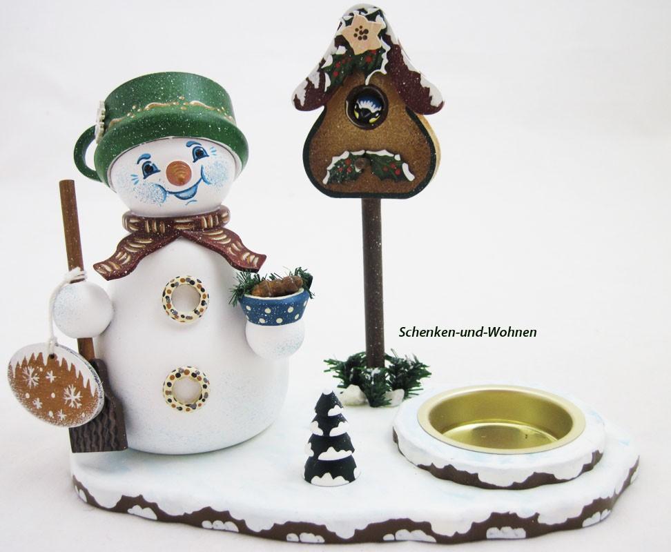 Schneemann mit Teelicht