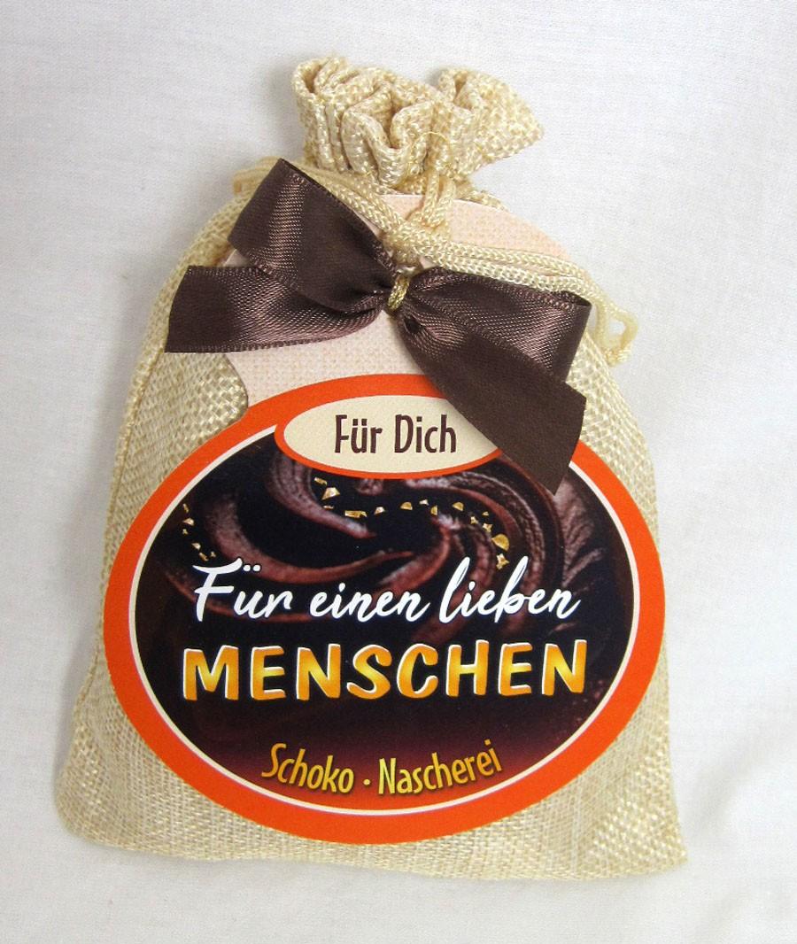 """Schokosäckchen """"Für einen lieben Menschen"""" mit 95 g Schokolade"""