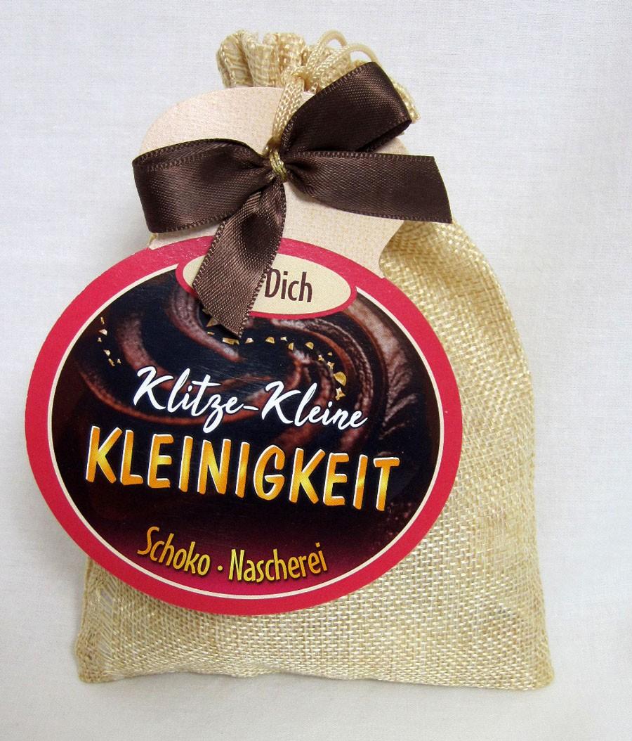 """Schokosäckchen """"Klitze Kleine Kleinigkeit"""" mit 95 g Schokolade"""