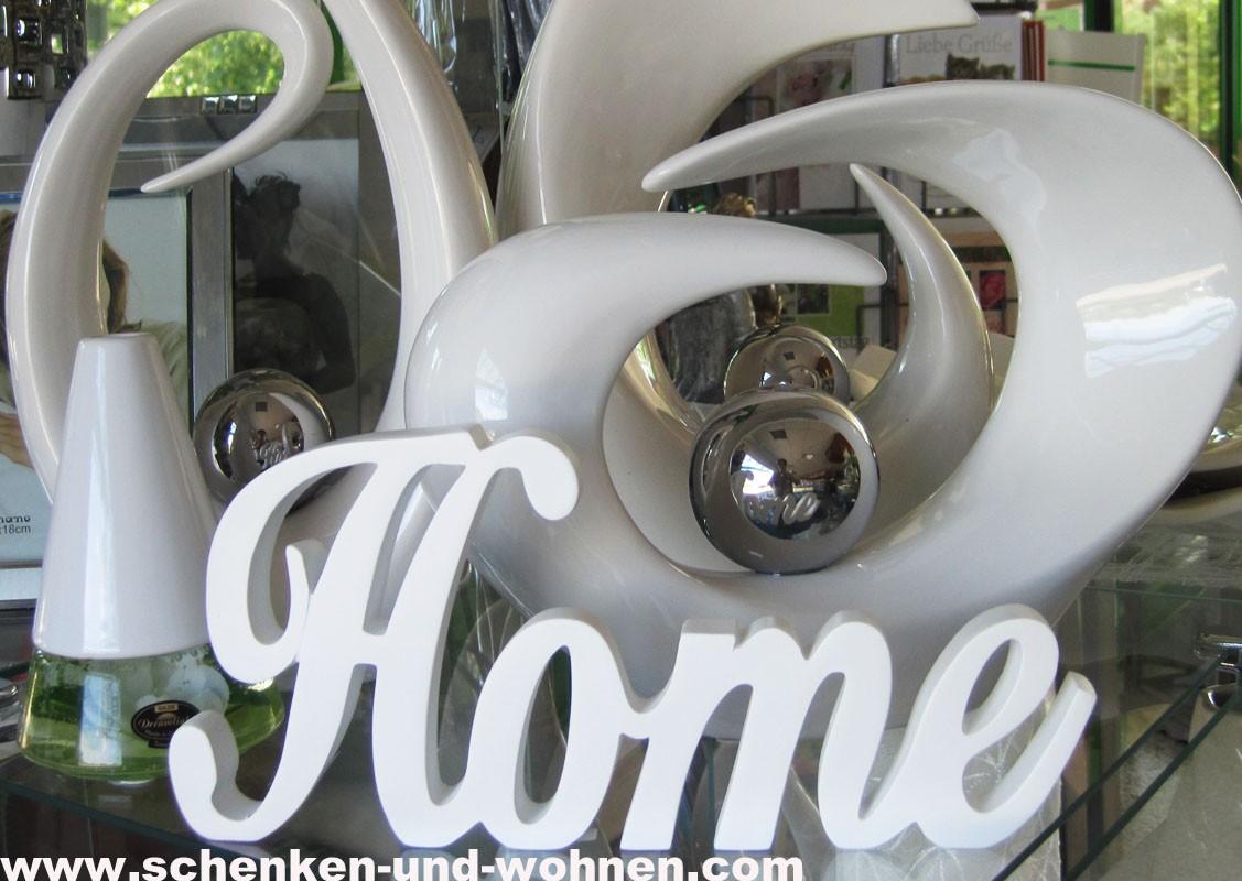 """Schriftzug """" Home """" weiß 26 cm"""
