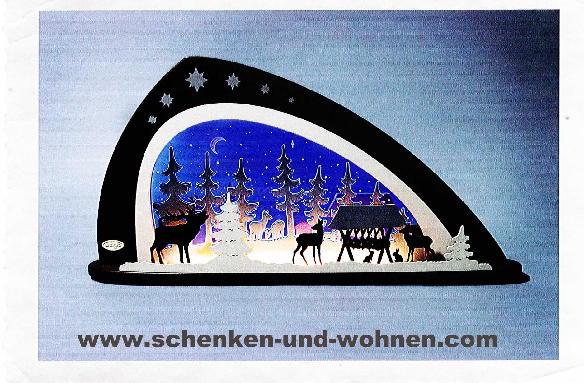 "Schwibbogen LED ""Waldtiere"" 66 x 33,8 x 6 cm (L/H/T)"