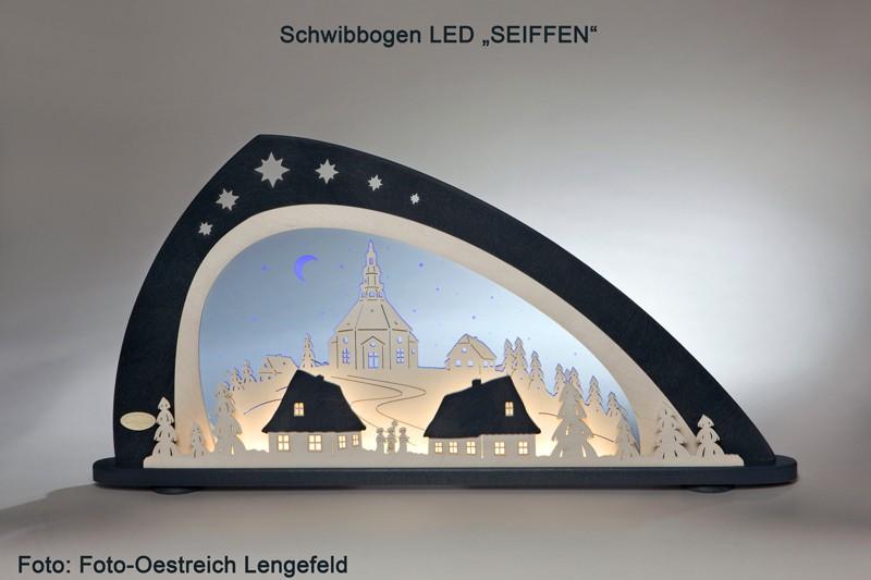 """Lichterbogen/Schwibbogen LED """"SEIFFEN"""" Moderne Weihnachtsdekoration"""