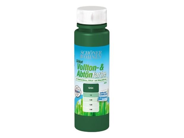 Silikat Vollton- & Abtönfarbe grün 250 ml