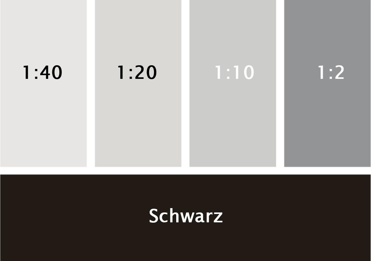 Silikat Vollton- & Abtönfarbe schwarz 250 ml