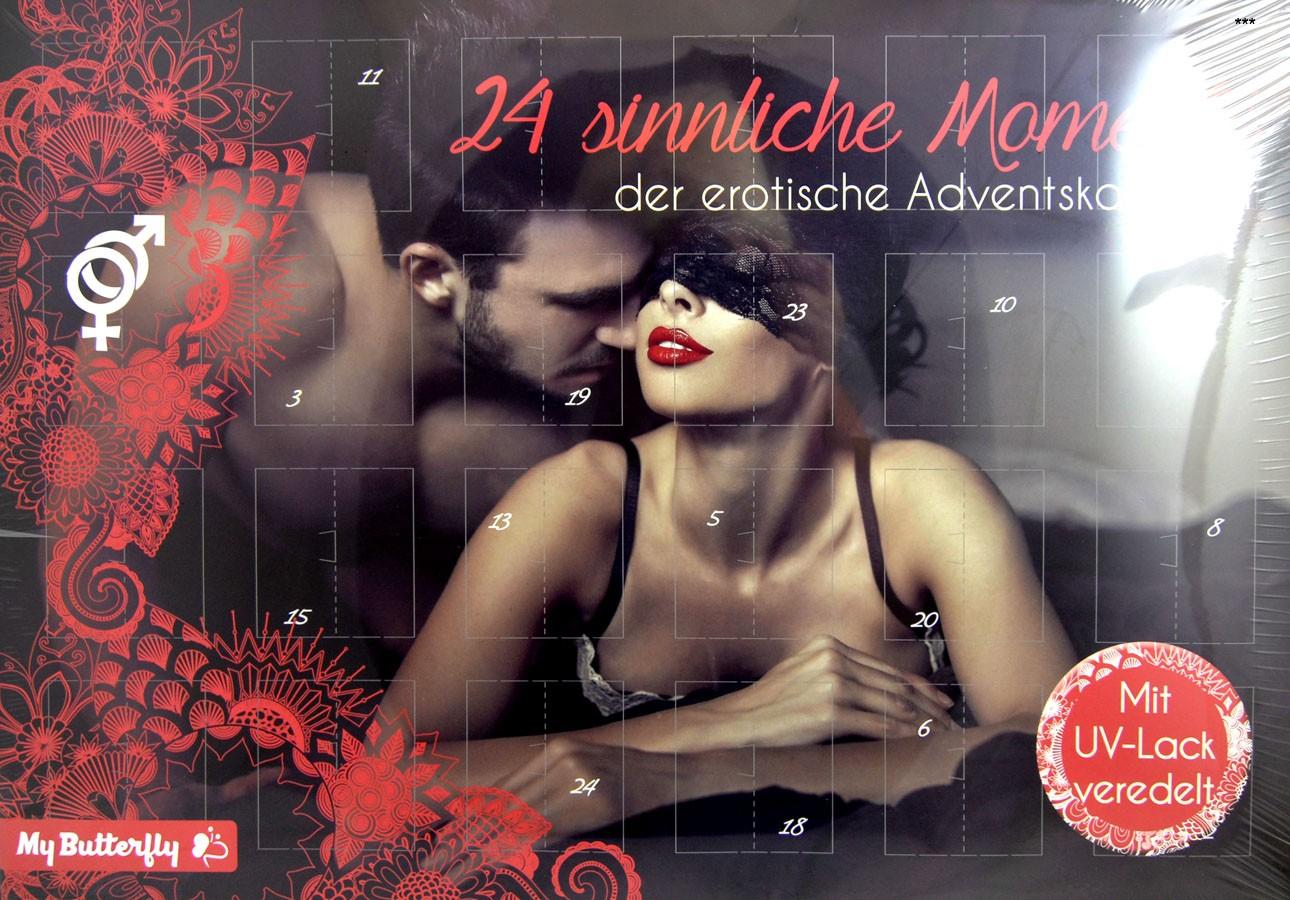 Adventskalender 24 sinnliche Momente 50 x 35 x 4 cm befüllt